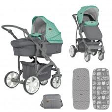Lorelli Baby stroller Vista Green&Grey