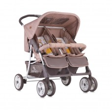Lorelli Twin stroller Twin Beige Yellow Happy Family