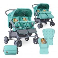 Lorelli Twin stroller Twin Green Indians