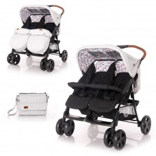 Lorelli Twin stroller Twin Grey-Black