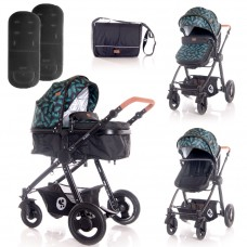 Lorelli Baby stroller Alexa, black leaves