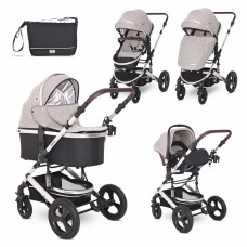 Lorelli Baby stroller Boston 3 in 1, cool grey stars