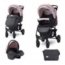 Lorelli Бебешка комбинирана количка Daisy Set, розова