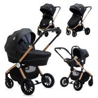 Lorelli Baby stroller Ramona 3 in 1, black