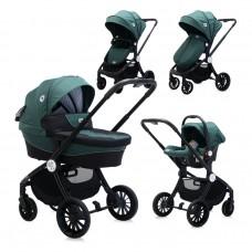 Lorelli  Бебешка комбинирана количка Ramona 3 в 1, зелена