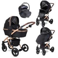 Lorelli Baby stroller Rimini Premuim, black stars