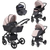 Lorelli Baby stroller Rimini Premuim, cameo rose stars