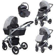 Lorelli Baby stroller Rimini Premuim, cool grey stars