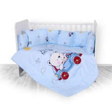 Lorelli 5-elements Bedding Set, Bear in the car