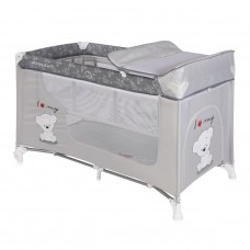 Lorelli Moonlight 2 Layers Baby Travel Cot Grey