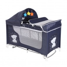 Lorelli Moonlight Rocker 2 Layers Baby Travel Cot Blue