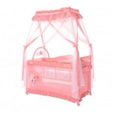 Lorelli Бебешка кошара Magic Sleep с балдахин, розова