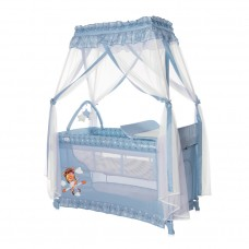 Lorelli Бебешка кошара Magic Sleep с балдахин, синя