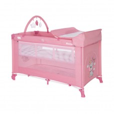 Lorelli Noemi 2 Layers Plus Baby Travel Cot, pink