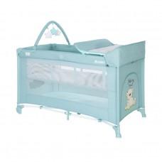 Lorelli Noemi 2 Layers Plus Baby Travel Cot, blue