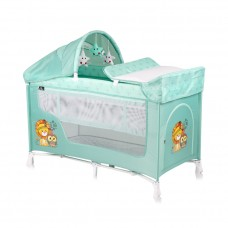 Lorelli San Remo Baby Travel Cot Green Indians