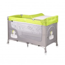 Lorelli San Remo 2 Layers Baby Travel Cot Elephant
