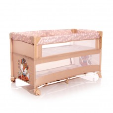 Lorelli Up and Down 2 Layers Baby Travel Cot Beige
