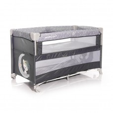 Lorelli Up and Down 2 Layers Baby Travel Cot grey Moon
