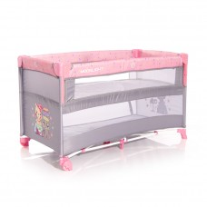 Lorelli Up and Down 2 Layers Baby Travel Cot pink