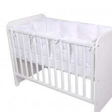 Lorelli Cot Bumper Big Uni 60x120 cm white
