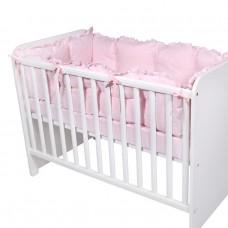 Lorelli Cot Bumper Big Uni 60x120 cm pink