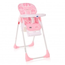 Lorelli Cryspi Baby High Chair, pink hearts
