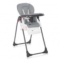 Lorelli Dulce Baby High Chair, silver blue leather