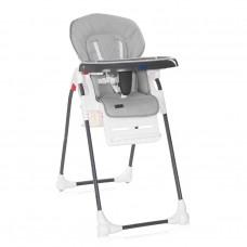 Lorelli Dulce Baby High Chair, grey leather