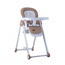 Lorelli Party Baby High Chair, beige PU leather