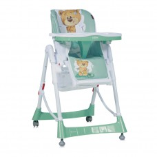 Lorelli Primo Baby High Chair Green Cute Bear