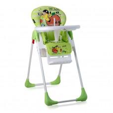 Lorelli Tutti Frutti Baby High Chair green worm