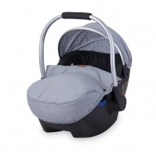 Lorelli Car Seat Rimini Group 0 + 0-13 kg, grey dots