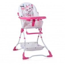 Lorelli Bonbon Baby High Chair pink cat