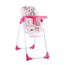 Lorelli Dulce Baby High Chair, pink cat