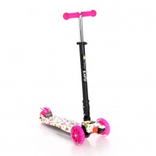 Lorelli Scooter Rapid, pink butterfly