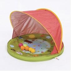 Ludi Детско непромокаемо килимче с тента и басейн