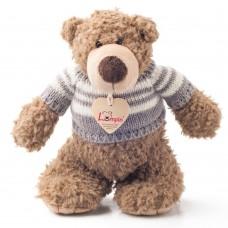 Lumpin Плюшена играчка Мечо Денис с пуловер, 22 см