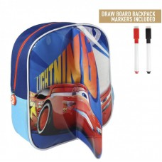 Cerda Little backpack with markers for coloring Cars