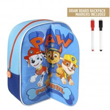Cerda Little backpack with markers for coloring Paw Patrol boy