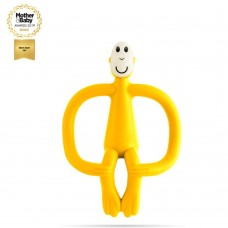 Matchstick Monkey Monkey Teething Toy Yellow