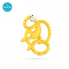Matchstick Monkey Mini Monkey Teether Yellow
