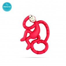 Matchstick Monkey Mini Monkey Teether Rubine