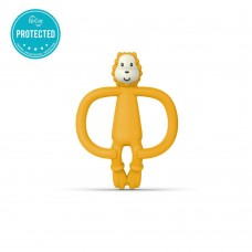 Matchstick Monkey Lion Teething Toy yellow