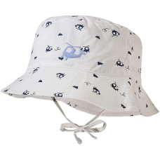 Maximo Baby summer hat, white helicopter