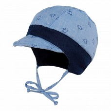 Maximo Baby summer hat, blue crab