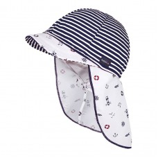 Maximo Baby summer hat, blue stripes