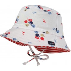 Maximo Baby summer hat, white fishes