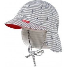 Maximo Baby summer hat, anchor grey