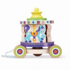 Melissa & Doug Въртележка - играчка за дърпане